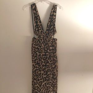Long Leopard Print Maxi Dress